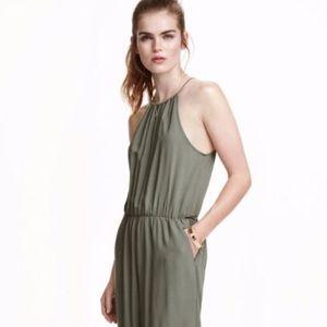H & M Divide Olive Green Jumpsuit